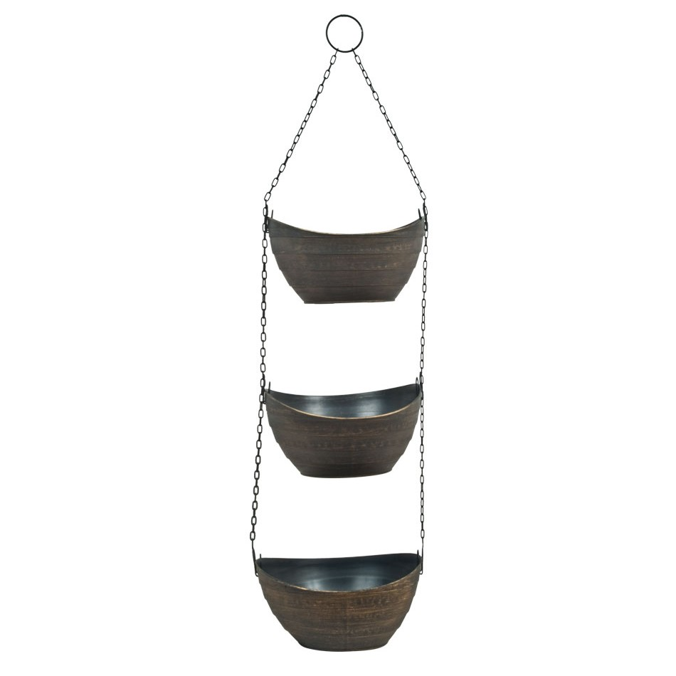3 Tier Jade Hanging Planter Set Double Tap To Zoom