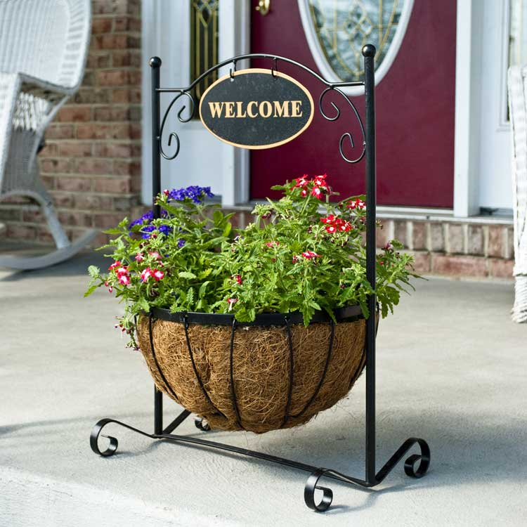 Classic Welcome Decorative Plant Stand With Aquasav