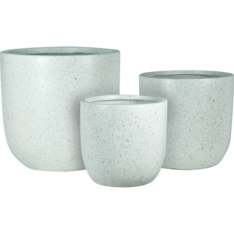 Origins Marble 17 in , 20 in , and 25 in  Round Patio Planter (Set of 3)