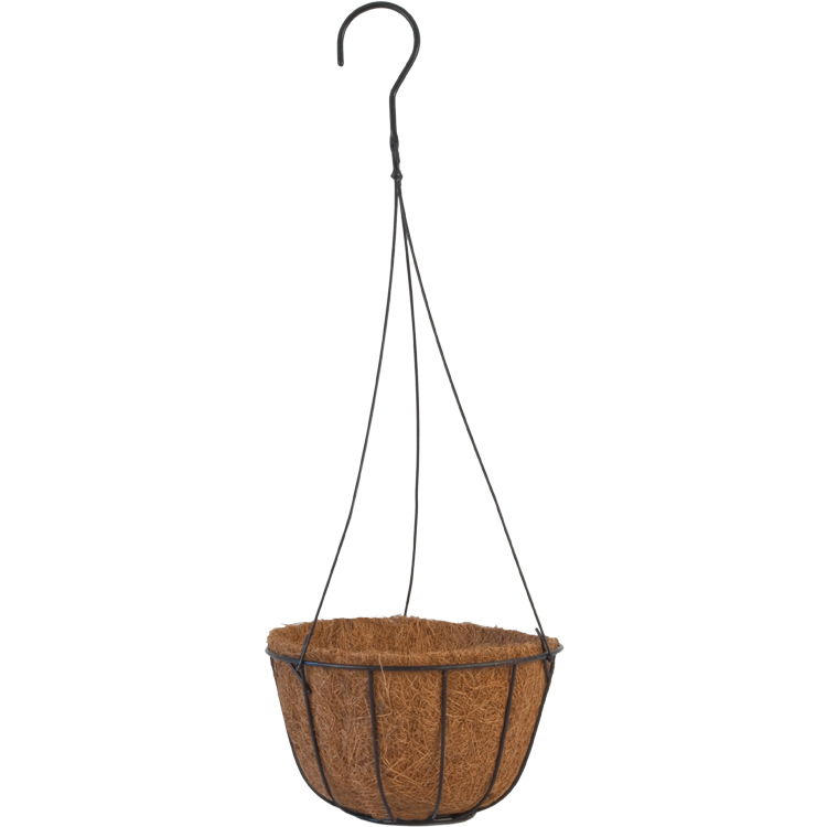 Grower 8 in. Hanging Planter with AquaSav™ Coco Liner and Wire ...